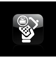 Print phone icon vector