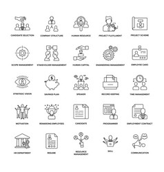 Project management line icon pack vector