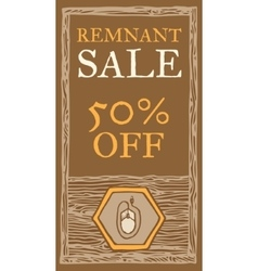 Remnant sale flyer vector image vector image