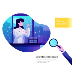 Science background poster vector