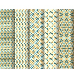Set of arabic patterns vector