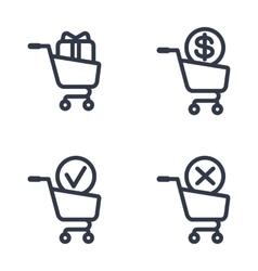 shopping carts order status vector image