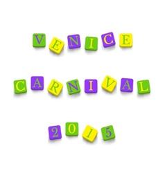 Words venice carnival 2015 vector