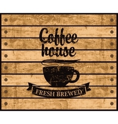 logo of the coffee house vector image