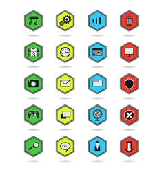 Icons hexagon vector