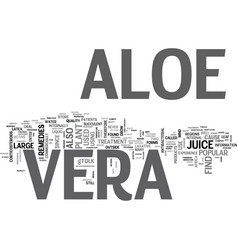 Aloe vera skin care the miracle cure text word vector