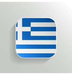 Button - greece flag icon vector