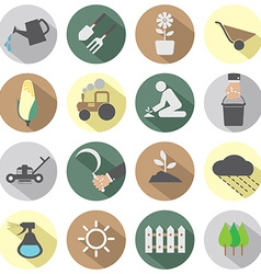 Agricultural equipment icons vector
