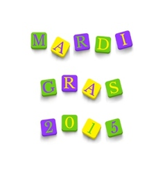 Words mardi gras 2015 vector