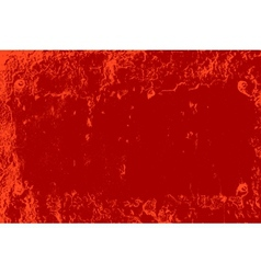 Red distressed plate vector