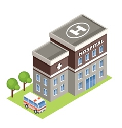 Isometric hospital vector