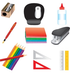 School or office supplies vector