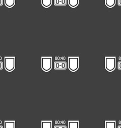 Scoreboard icon sign seamless pattern on a gray vector