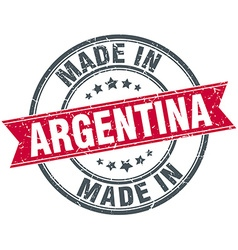 Made in argentina red round vintage stamp vector