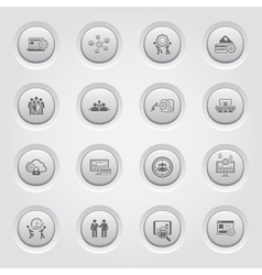 Button design business icons set vector