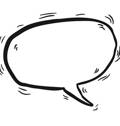 Simple black and white cartoon speech bubble vector