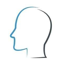 Head profile outline icon vector