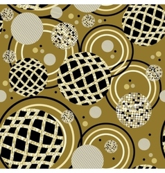 Abstract circles seamless pattern vector
