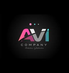 Avi a v i three letter logo icon design vector