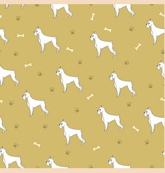 Awesome seamless pattern with cartoon cute dogs vector