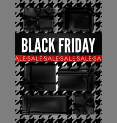 black friday sale dark advertisement banner with vector image vector image