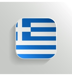 Button - Greece Flag Icon vector image vector image
