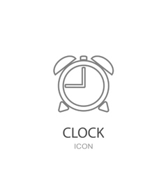 Clock icon flat style object vector
