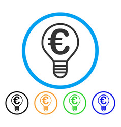 euro bulb rounded icon vector image