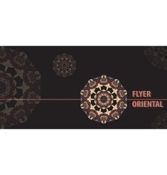 Flayer template design in brown color abstract vector