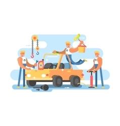 Full auto repair vector image vector image