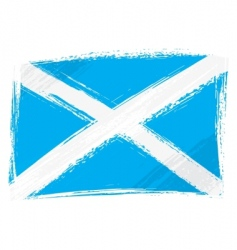 grunge Scotland flag vector image vector image