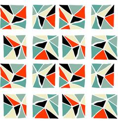 handdrawn tribal geometric pattern vector image vector image