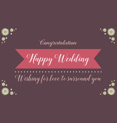 Happy wedding style background collection vector