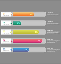 Infographic banner template design element vector image vector image
