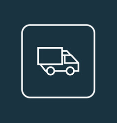 lorry outline symbol premium quality isolated vector image vector image