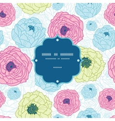 Lovely flowers frame seamless pattern background vector image vector image