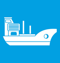 marine ship icon white vector image