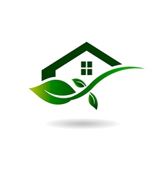 Natural House logo vector image vector image