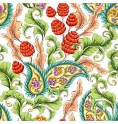 Paisley blooming garden vector image