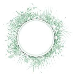 Palm Leaf Frame vector image vector image