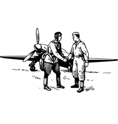 Pilot and soldier vector image vector image
