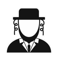 Rabbi simple icon vector