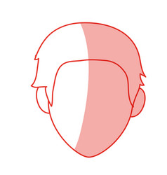 Red silhouette shading faceless front view man vector