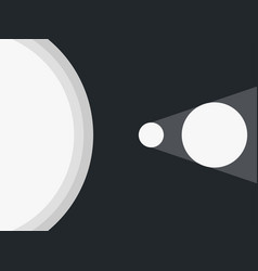 solar eclipse the moon closes the planet earth vector image