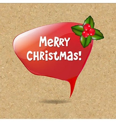 Speech Bubble With Christmas Decoration vector image vector image