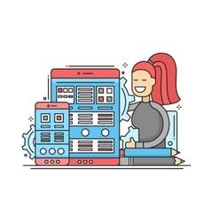 Web Page Optimization - flat design website banner vector image vector image