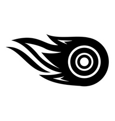wheel fire icon simple black style vector image