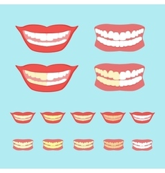 Whitening teeth isolated on vector image
