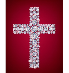 Cross of diamonds vector