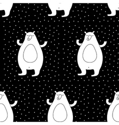 Cartoon winter seamless pattern vector